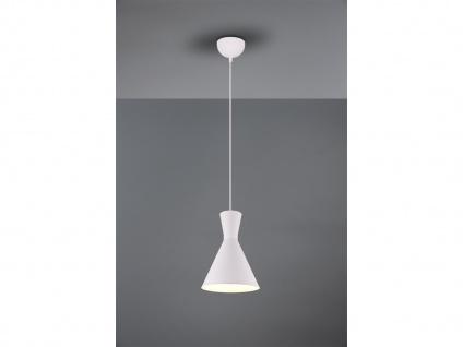 LED Pendelleuchte 1 flammig Metall Lampenschirm Ø20cm Weiß über Esszimmertisch