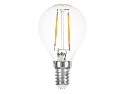 FILAMENT-LED Globe E14, 2 Watt, 200 Lumen, 2700 Kelvin, warmweiß