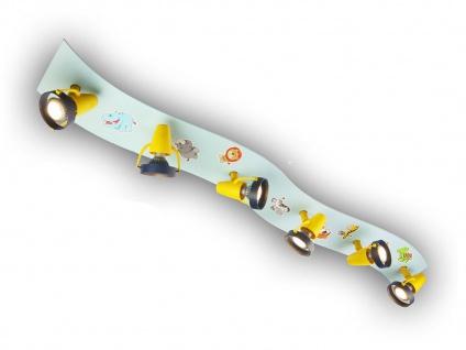 Strahlerleiste XXL 115cm WILDE TIERE 6 Spots schwenkbar Beleuchtung Kinderzimmer - Vorschau 2