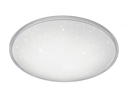 Runde LED Deckenleuchte mit Switch-Dimmer Ø 42cm weiß Sternhimmel - Schlafzimmer