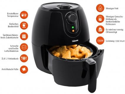 Umluft-Fritteuse, Crispy Fryer, Heißluftfritteuse, Frittieren ohne Öl, 2, 6 Liter