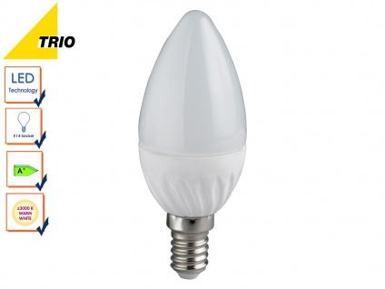 LED Leuchtmittel E14, Kerze matt, 6 Watt warmweiß 470 Lumen, 3000 Kelvin, Trio