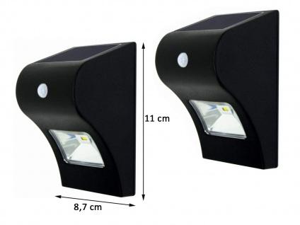 Solar LED Treppenlicht 2er SET Orientierungslicht für Außenbereich, 11x9cm, IP44