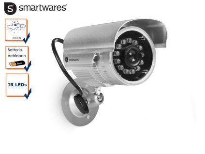 Kamera Attrappe / Dummy Kamera mit Nachtsicht Infrarot LEDs, Überwachungskamera