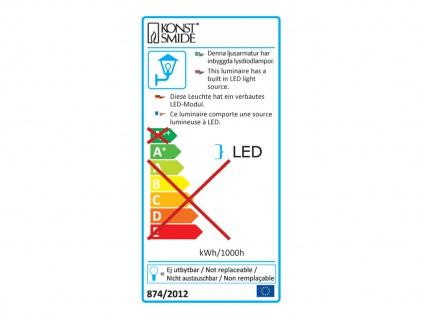 Konstsmide LED Außenwandleuchte PESARO 13cm, grau, IP44, Beleuchtung Fassade - Vorschau 3