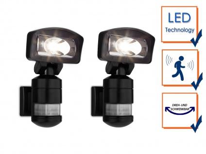 2 LED Roboter Sicherheitsleuchten, Außenfluter mit Bewegungsmelder & -verfolgung