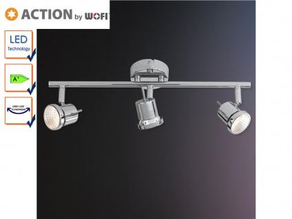 3-flg. LED Deckenleuchte Chrom, Spots schwenkbar, Action by Wofi