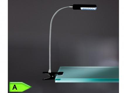 LED Klemmspot FLEX in schwarz, 12-flg. höhe 40 cm Action by Wofi