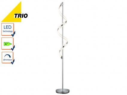 LED Stehleuchte Stehlampe SYDNEY, Chrom, Fußdimmer, H. 162 cm, 1x 20W LED, Trio