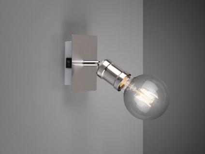 Einflammiger Wandstrahler für den Innenbereich mit schwenkbarem E27 Spot Silber