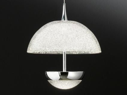 LED Pendelleuchte Chrom Acrylglas Crush-Optik Ø 21, 5cm Wohnraumleuchte Esstisch - Vorschau 5