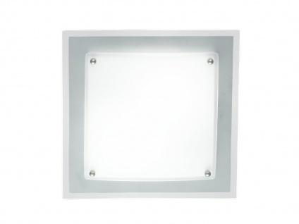 Eckige Deckenleuchte, Glas weiß, 28 x 28 cm, Wofi-Leuchten