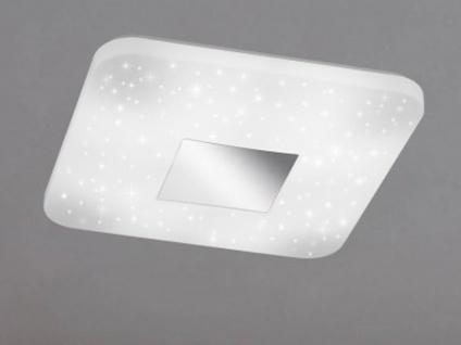 Quadratische LED Deckenleuchte mit Sternhimmel-Effekt, 33 x 33cm, Schlafzimmer - Vorschau 3