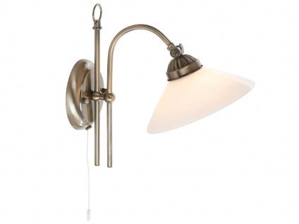 Landhaus Wandleuchte mit Schalter und LED, Wandlampe Leselampe Flur Wohnzimmer
