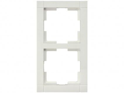 2-fach Rahmen / Schalterblende Modul in weiß, eckig, GAO