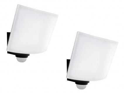 2er Set LED Außenwandlampen anthrazit mit Bewegungsmelder & Timer, Handy App