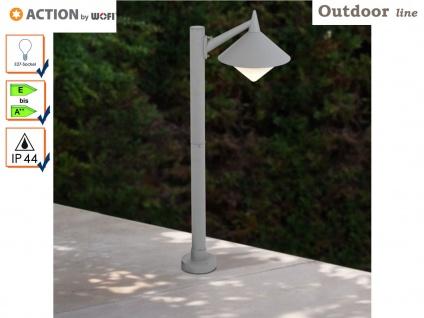 Außenstehleuchte Wegeleuchte grau, Höhe 95cm, E27, Action by Wofi
