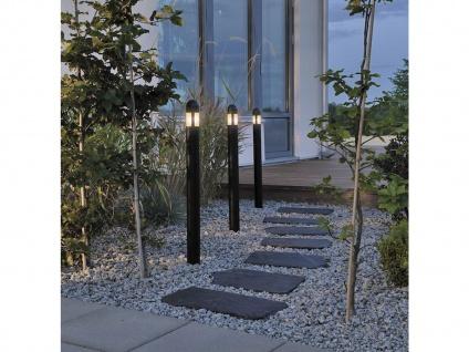 Konstsmide 3er Set LED Wegeleuchten in schwarz, Erdspießleuchten Gartenleuchten