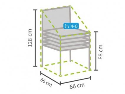 Gartenmöbel Schutzhülle für 4-6 Stapelstühle Tiefe 66cm, Abdeckhaube Gartenstuhl