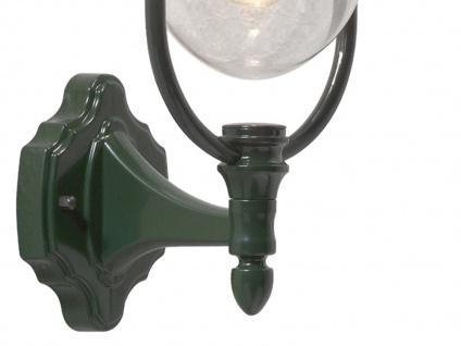 Wandleuchte Außenwandleuchte Laterne PARMA, Aluminium grün, E27, IP43 - Vorschau 5