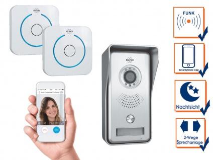 IP Video Türsprechanlage mit 2x Funktürklingeln - Klingelanlage Smartphone App