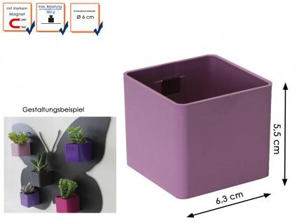 wWandaufbewahrung Kunststofftopf mit Magnet Mini Würfe Ø 6cm Pink, KalaMitica