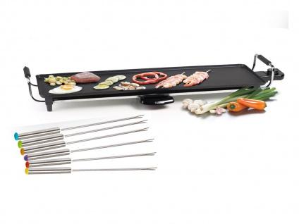 Teppan Yaki Grill XL Bratplatte antihaftbeschichtet 1800W + 6 Teppanyaki Gabeln