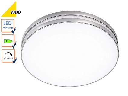 LED Deckenleuchte Badezimmerlampe APART Chrom Acryl weiß Ø 41 cm