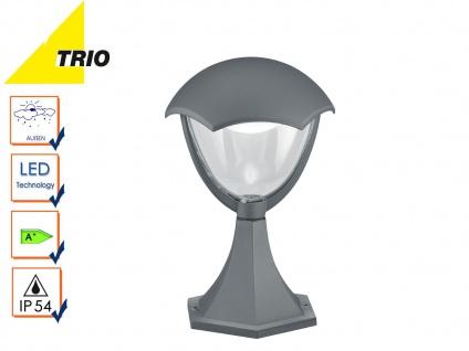 Trio LED Wegeleuchte Sockelleuchte GRACHT anthrazit, Außenlampe Gartenlaterne