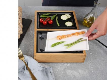 Teppanyaki Grill für 2 Personen, erweiterbar Japanischer Elektrogrill Tischgrill - Vorschau 5