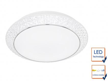 Deckenleuchte Weiß mit Acrylsteinen rund Ø 51cm LED Lichtfarbe wählbar Bürolampe - Vorschau 4