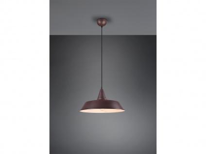 Dimmbare LED Pendelleuchte Retro 1 flammig Metall Rostoptik, Lampenschirm Ø 35cm