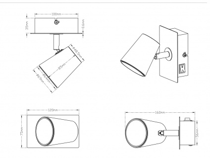 LED Wandstrahler Weiß matt Spot schwenkbar 6W - Wandleuchten Schlafzimmer - Vorschau 3