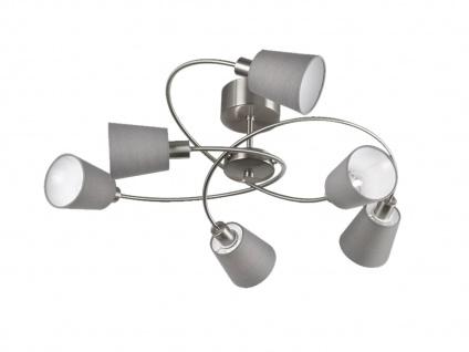 Honsel Deckenlampe NOTE 83cm Lampenschirme Stoff grau, Deckenleuchte Wohnraum