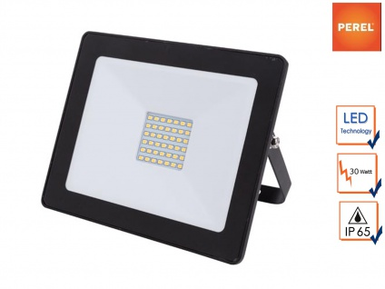 30W LED Baustrahler 18x15cm für Außenbereich, Fluter Strahler Scheinwerfer