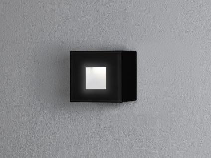 LED Wandspot Unterputz Außenwandleuchte Auf-& Einbauleuchte schwarz IP54 8x8cm