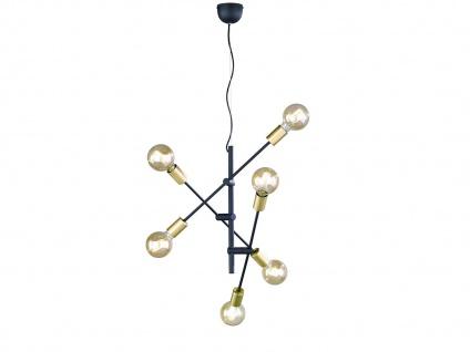 Pendelleuchte schwenkbar in schwarz matt/bronze mit 6 FILAMENT LED, Ø54cm 150cm