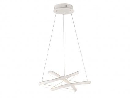 Dimmbare LED Pendelleuchte weiß 51x53 cm, modernes Design Esstischlampe Küche