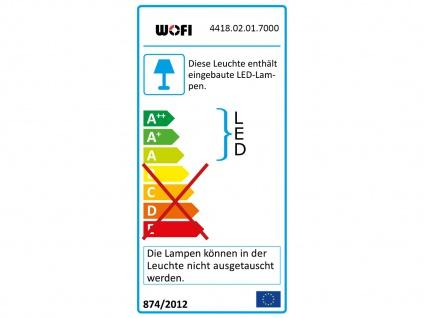 2-fl. LED Wandleuchte, Chorm mit Glassteinen Länge 33cm, Wandlampe Designerlampe - Vorschau 3