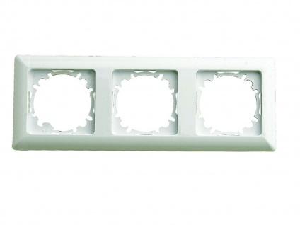 3-fach Schalterblende aus Kunststoff in Cremeweiß GAO - Vorschau 2