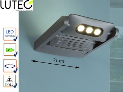 2-fl. LED Außenwandleuchte Aluguss Anthrazit IP65 drehbar Fassadenbeleuchtung