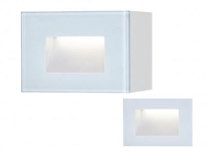LED Außenwandleuchte Auf-& Einbauleuchte aus Alu, 12x8cm Terrassenlampen IP54 - Vorschau 2