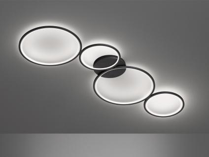 Ausgefallene Deckenlampe, flache Ringleuchte für Jugendzimmer Wohnzimmer schwarz