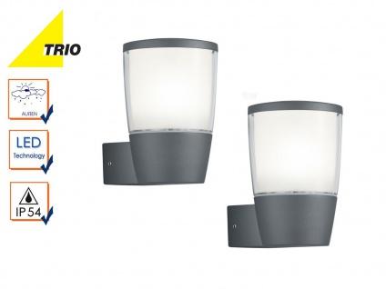 2er Set Trio LED Außenwandlampen Laternen SHANNON anthrazit, Außenbeleuchtung