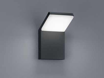 LED Fassadenbeleuchtung in anthrazit aus wetterfestem ALU, Gehwegleuchte IP54