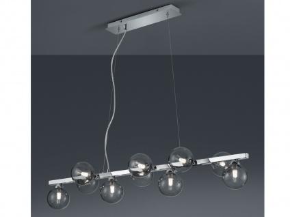 LED Balkenpendellampe mehrflammige Kugelleuchte mit Rauchglas für EsstischLampen