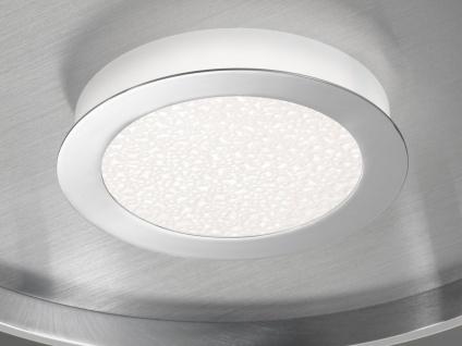 Große LED Deckenleuchte BUG rund Ø81cm mit Fernbedienung - Silber matt & Chrom - Vorschau 5