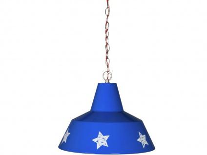 LIEF! Hängeleuchte im Amerika-Look, Metall blau mit weißen Sternen - Vorschau 1