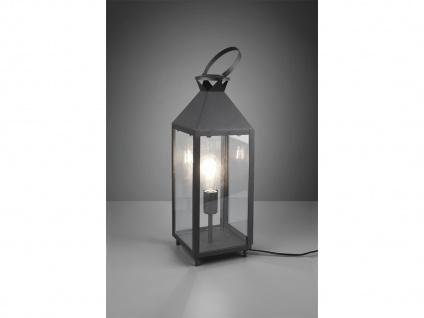 LED Tischleuchte groß Laterne schwarz Metall 19x19cm 61cm hoch für Fensterbank