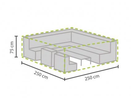 Schutzhülle Abdeckung für Loungemöbel, 250x250cm, Abdeckplane Lounge Garten